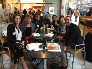 [Press Corps team 2015] From left to right: Anais Lynn, JD García, Divjot Singh, Stephanie Muñoz, John Sununu and Jesse Steele